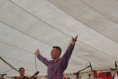 On stage at the Beer Festival